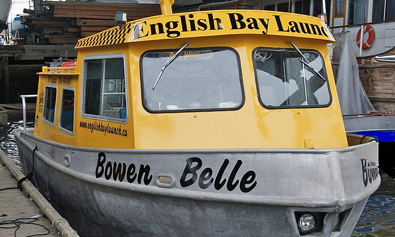 English Bay Launch provides passenger-only service to/from Granville Island & Coal Harbour