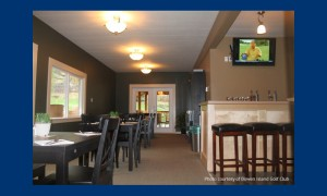 Enjoy something to eat or drink at the Golf Course clubhouse