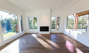 Living room with view of golf course (neighbouring home)