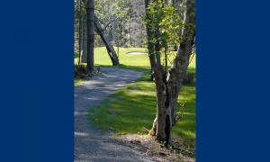 Walk the trail along the perimeter of the golf course