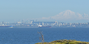 Vancouver seen from Seymour Shores